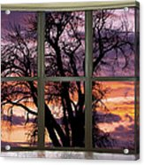 Beautiful Sunset Bay Window View Acrylic Print