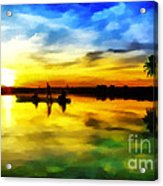 Beautiful Sunset Acrylic Print by Vidka Art