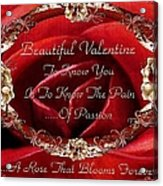 Beautiful Valentine Acrylic Print