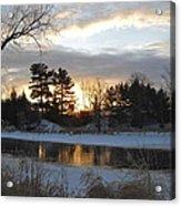 Beautiful Winter Dawn Acrylic Print