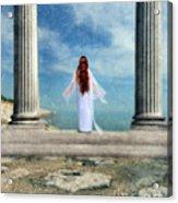 Beautiful Woman In White Acrylic Print