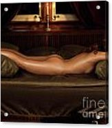 Beautiful Woman Sleeping Naked Acrylic Print