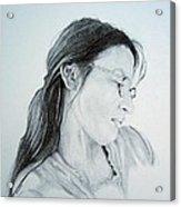 Beautiful Woman Acrylic Print