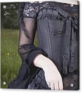 Beautiful Young Woman In Field Acrylic Print