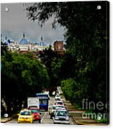 Beauty Of Avenida Solano In Cuenca Acrylic Print