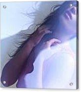Beauty Photo Of A Woman In Shining Blue Settings Acrylic Print