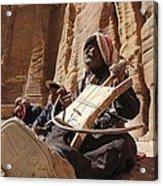 Bedouin Musician Acrylic Print by Dave Eitzen