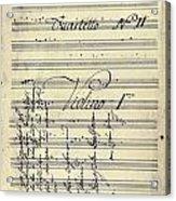 Beethoven Manuscript, 1799 Acrylic Print by Granger