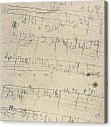 Beethoven Manuscript, 1826 Acrylic Print by Granger