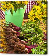 Beets And Sunflowers Acrylic Print