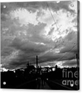 Before Rain In Prague Acrylic Print