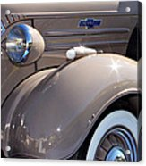 Beige 1937 Chevrolet Pickup Truck Acrylic Print