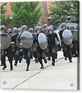 Belgian Infantry Soldiers Training Acrylic Print by Luc De Jaeger