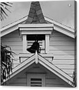 Bell Tower In Black And White Acrylic Print