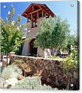 Bell Tower Of St Francis Winery Acrylic Print by George Oze