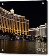 Bellagio And Ceasars Acrylic Print