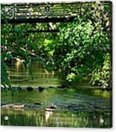 Below The Bridge Is Another World Acrylic Print
