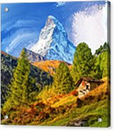 Below The Matterhorn Acrylic Print