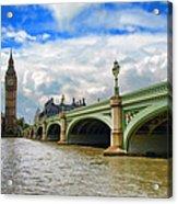 Ben And The Bridge Acrylic Print