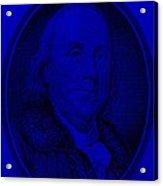 Ben Franklin In Blue Acrylic Print