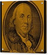 Ben Franklin In Orange Acrylic Print