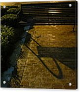 Bench And Shadow Acrylic Print
