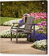 Bench In The Park Acrylic Print
