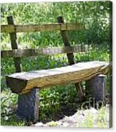 Bench Made Of Wood Acrylic Print