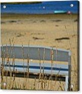 Bench On The Beach Acrylic Print