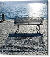 Bench With Shadow Acrylic Print