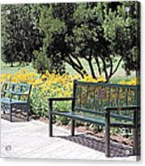 Benches  Acrylic Print