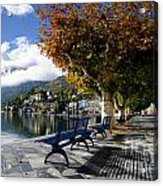 Benches With Shadow Acrylic Print