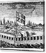 Benjamin Franklin: Battery Acrylic Print