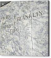 Benjamin Franklin's Grave Acrylic Print by Snapshot Studio