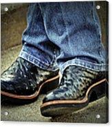 Bennys Boots Acrylic Print