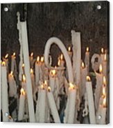 Bent Rememberance Candle Acrylic Print