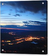 Berkshire Evening From Spruce Hill Savoy Mountain Acrylic Print