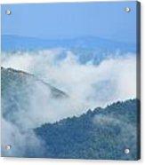Berkshire Mist Deerfield River Valley Acrylic Print