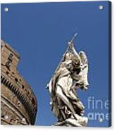 Bernini Statue On The Ponte Sant Angelo Acrylic Print