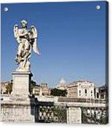 Bernini Statue On The Ponte Sant Angelo. Rome Acrylic Print