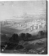 Bethlehem Engraving By William Miller Acrylic Print