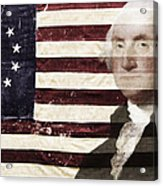 Betsey And George Flag Acrylic Print