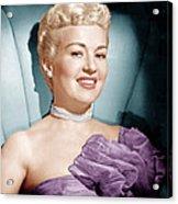 Betty Grable, Ca. 1950s Acrylic Print