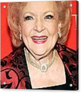 Betty White At Arrivals For Time 100 Acrylic Print by Everett