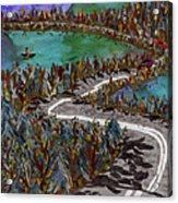Between Lakes Acrylic Print by Marina Gershman