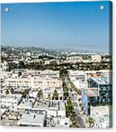 Beveryly Hills Panoramic Acrylic Print
