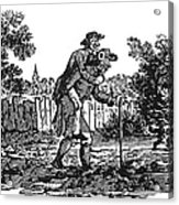 Bewick: Man Carrying Man Acrylic Print by Granger
