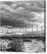 Beyond The Clouds Bw Acrylic Print