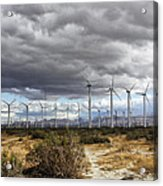 Beyond The Clouds Palm Springs Acrylic Print