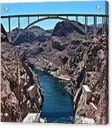 Beyond The Hoover Dam Spillway Acrylic Print